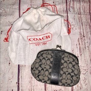 Coach Coin Wallet Black and Grey